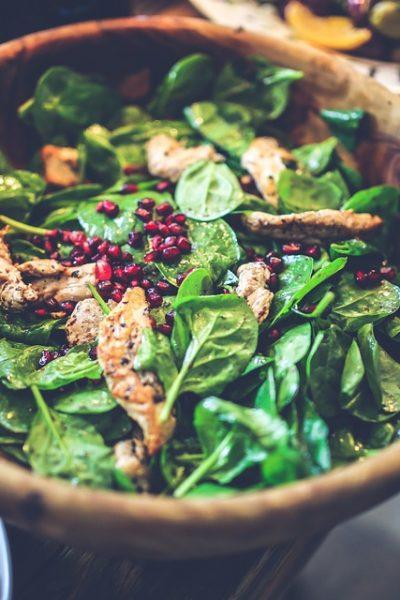 apple chicken spinach salad