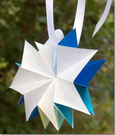 folded paper starburst ornament