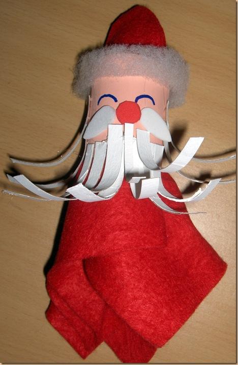 Santa paper tube napkin holder