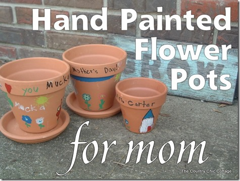 hand painted flower pots for mothers day-012