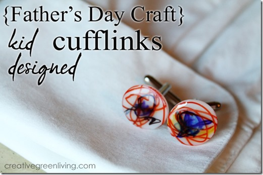 how to make cufflinks - fun shrinky dink craft for kids layers