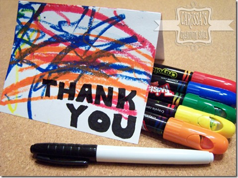 kid thank you cards cover shot