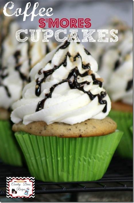 Delicious coffee smore cupcakes