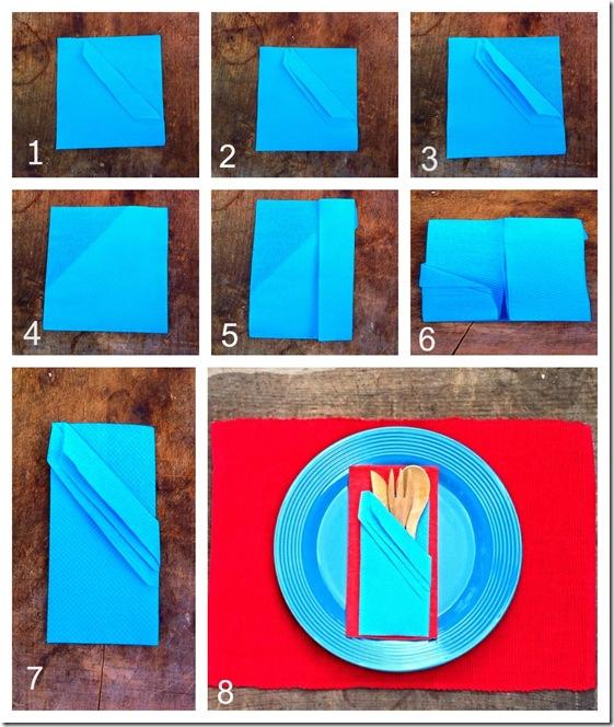Napkin-folding-silverware-pouch
