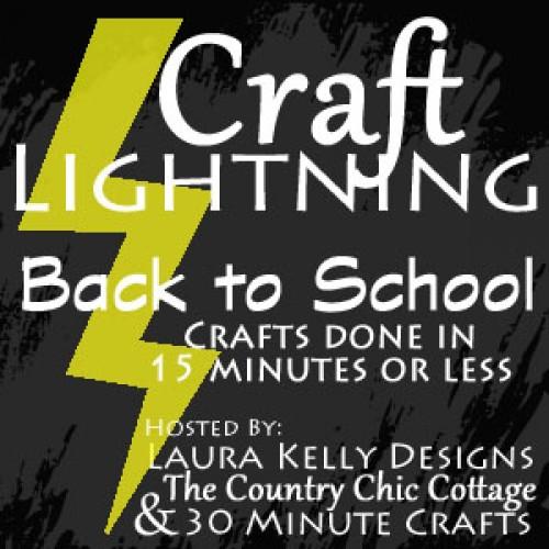 craft lightning back to school 2015