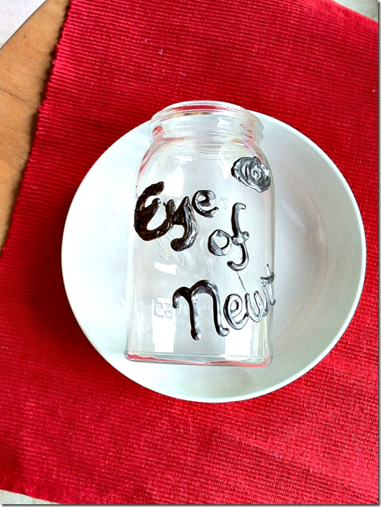 eye of newt halloween jar
