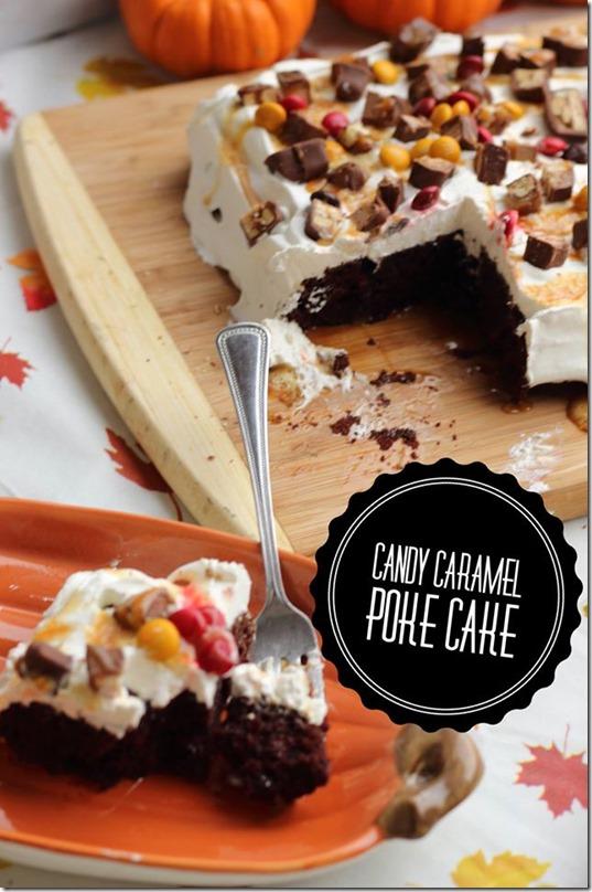 Candy Caramel Poke Cake Recipe