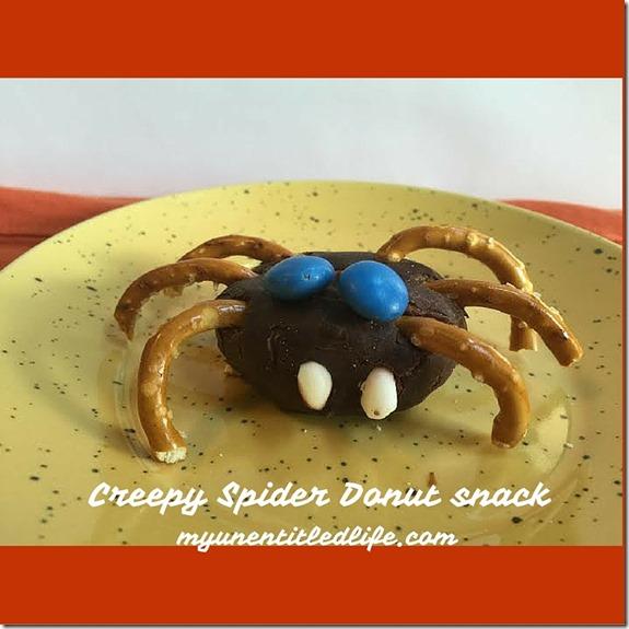 Creepy Spider Donuts