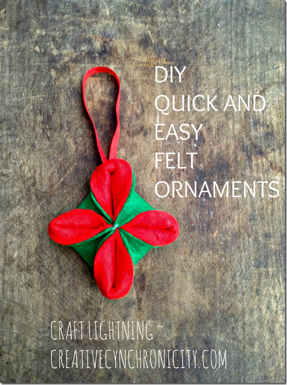 DIY QUICK AND EASY FELT ORNAMENTS