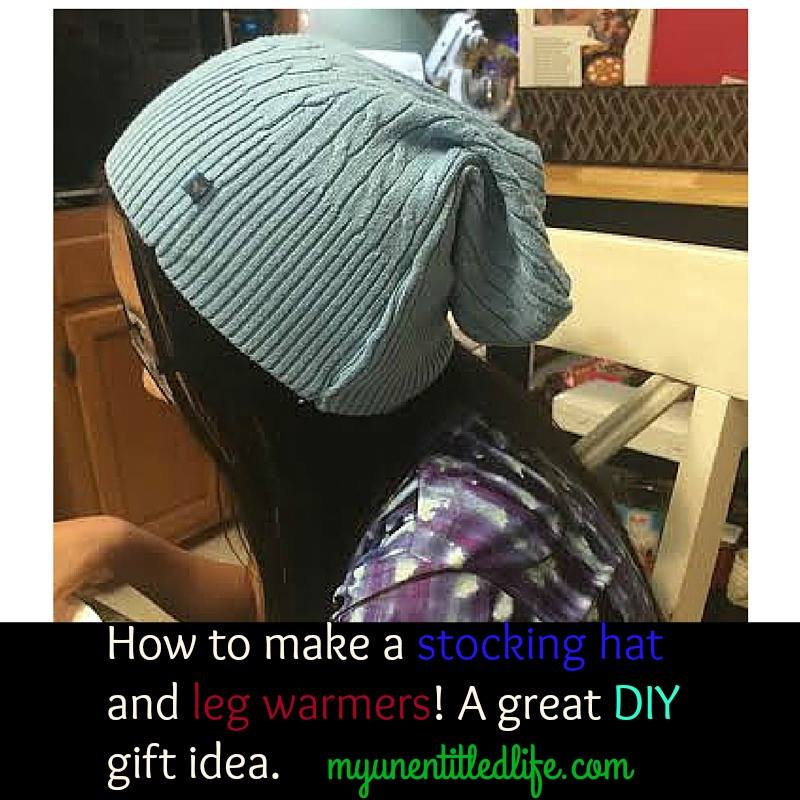 DIY stocking cap and leg warmers