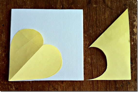 glitter heart canvas template