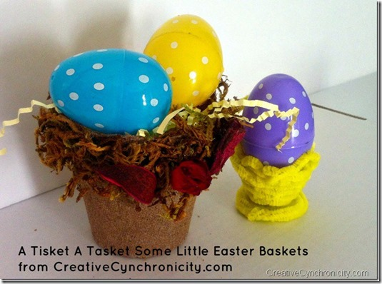 little easter treat holder made from peat seed cup