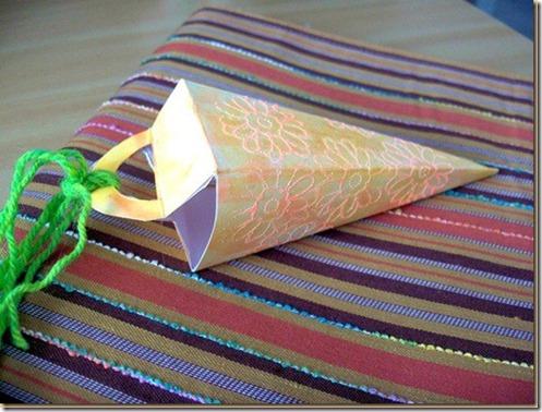 cardstock carrot shaped treat box