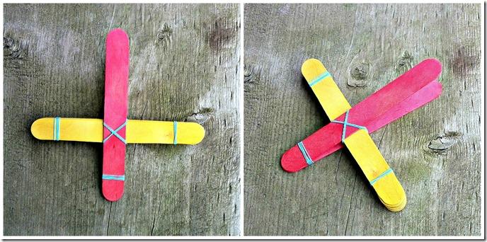assembling DIY wooden craft stick catapult