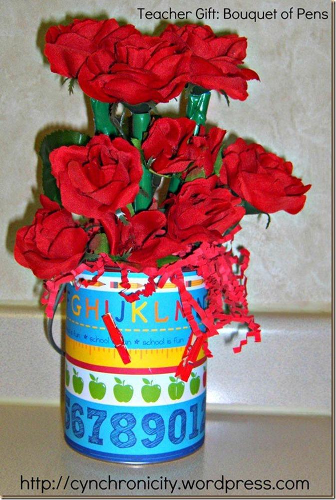 flower pen bouquet