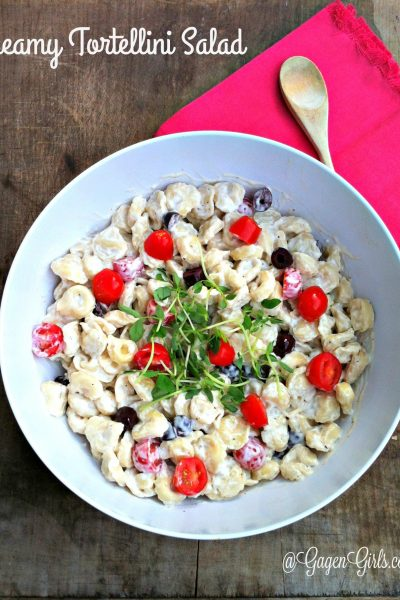 This creamy tortellini salad recipe is a family favorite! You won't believe that something so quick and easy to make can be so delicious. We serve it at all our summer family gatherings.