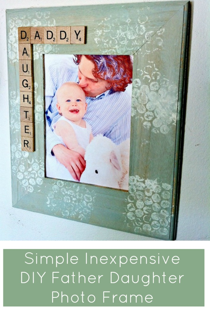 simple inexpensive diy father daughter photo frame