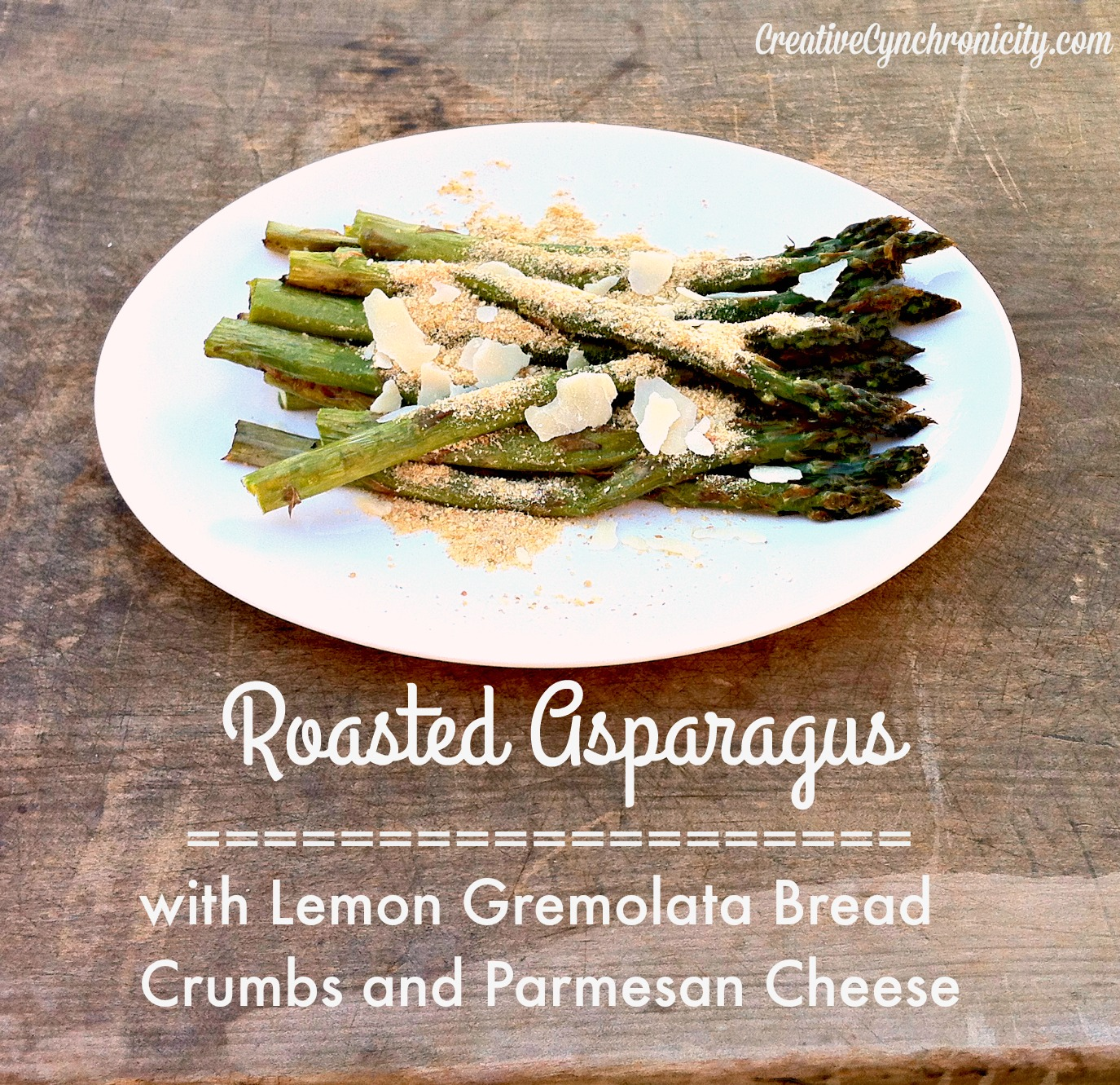 Roasted Asparagus with Lemon Gremolata Bread Crumbs and Parmesan Recipe