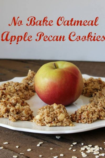 No Bake Oatmeal Apple Pecan Cookies Recipe