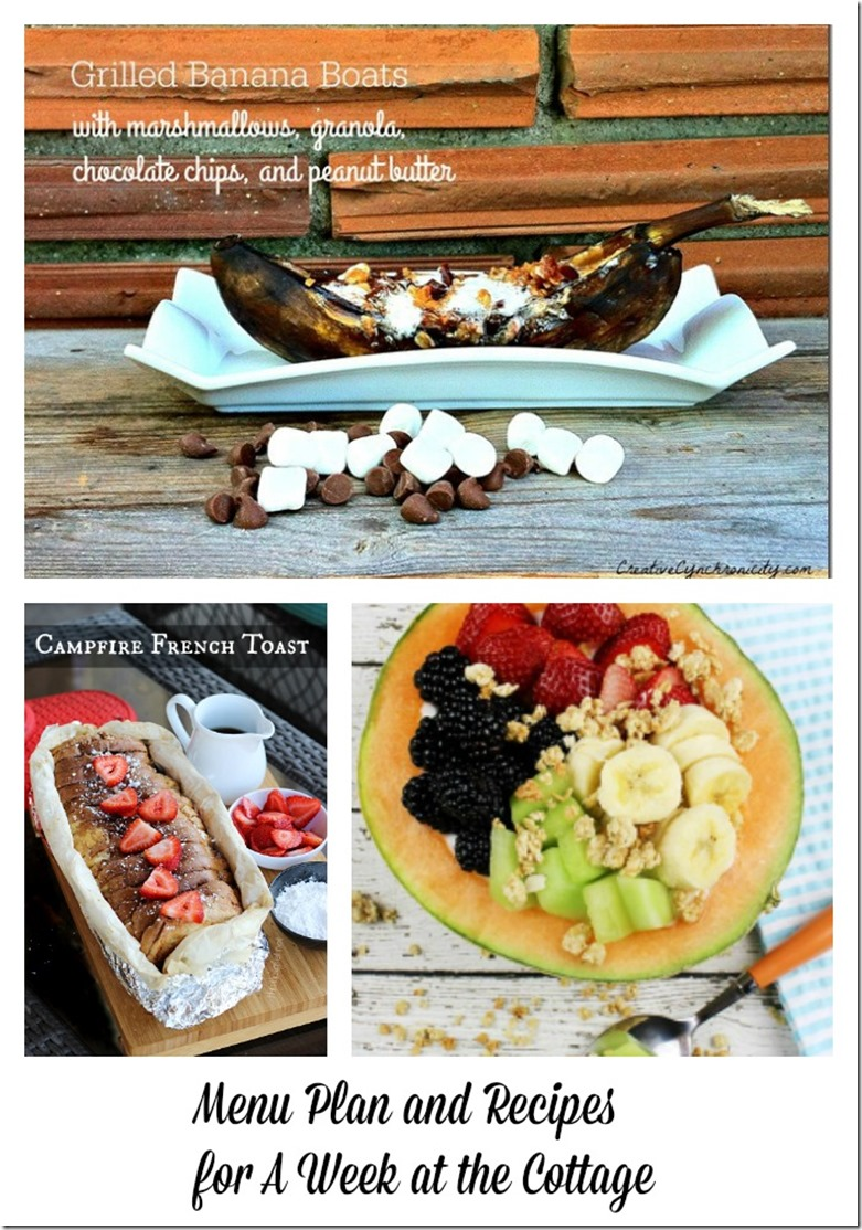 Menu Plan and Recipes for One Week at the Cottage
