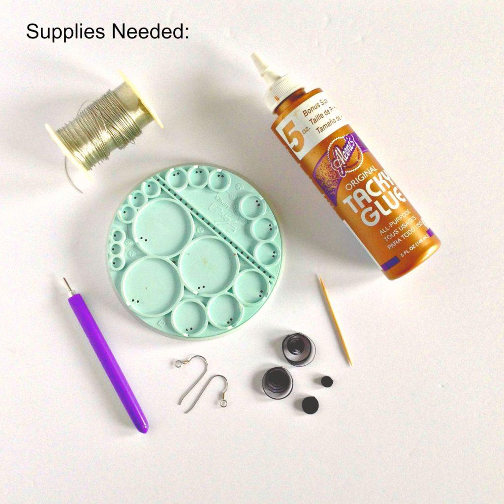 supplies-needed-for-halloween-bat-earrings