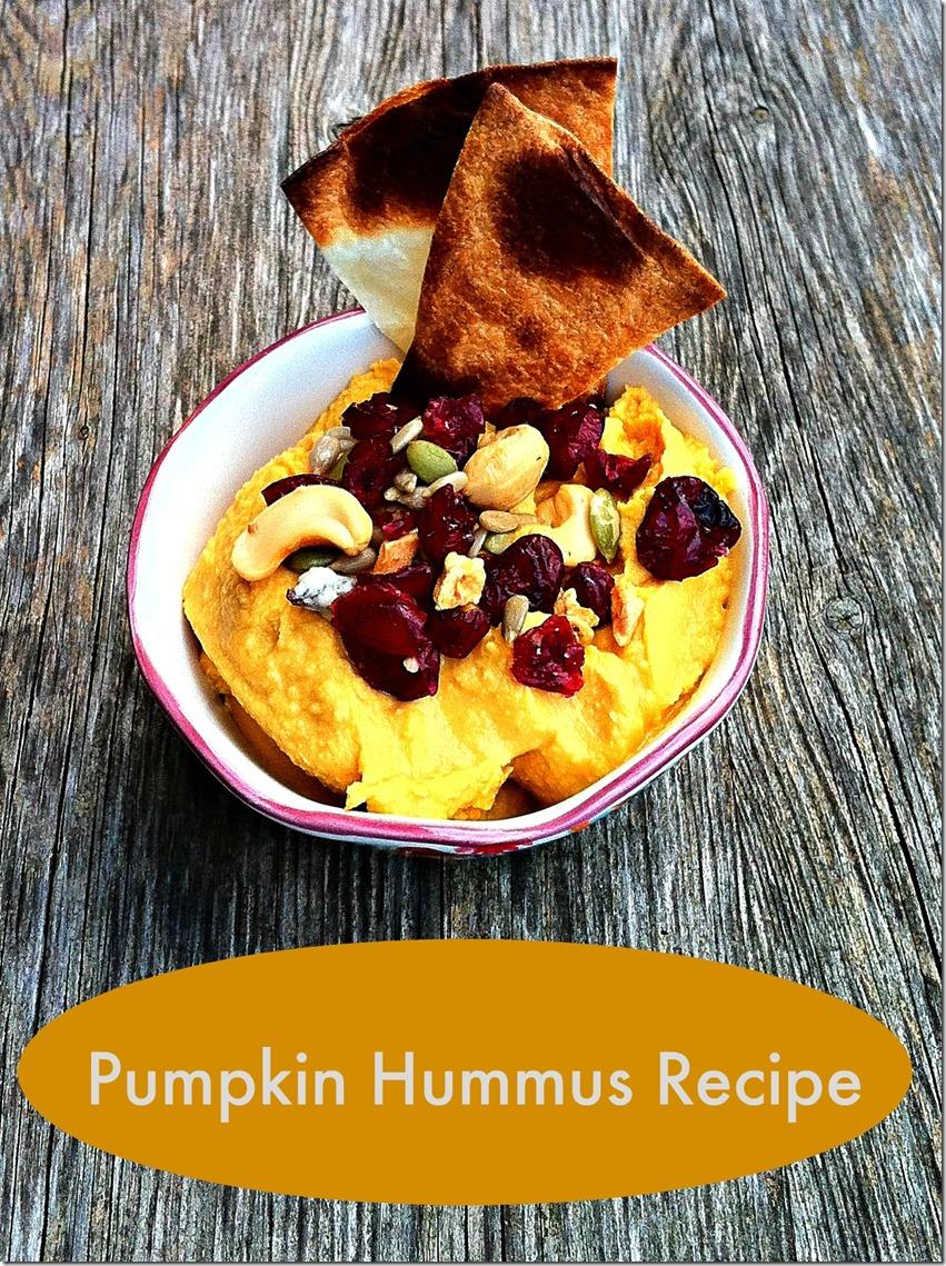 Pumpkin Hummus Recipe With Pita Crisps