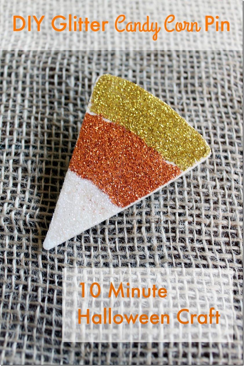 glitter candy corn pin tutorial
