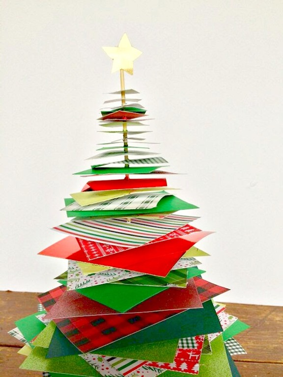 stacked paper christmas tree