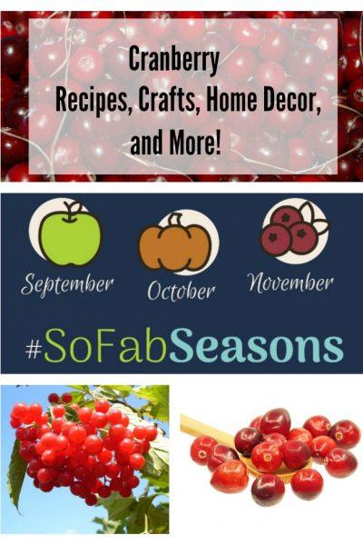 cranberry recipes, crafts, home decor, and more