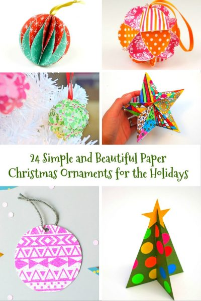 simple and beautiful paper christmas ornaments you can make
