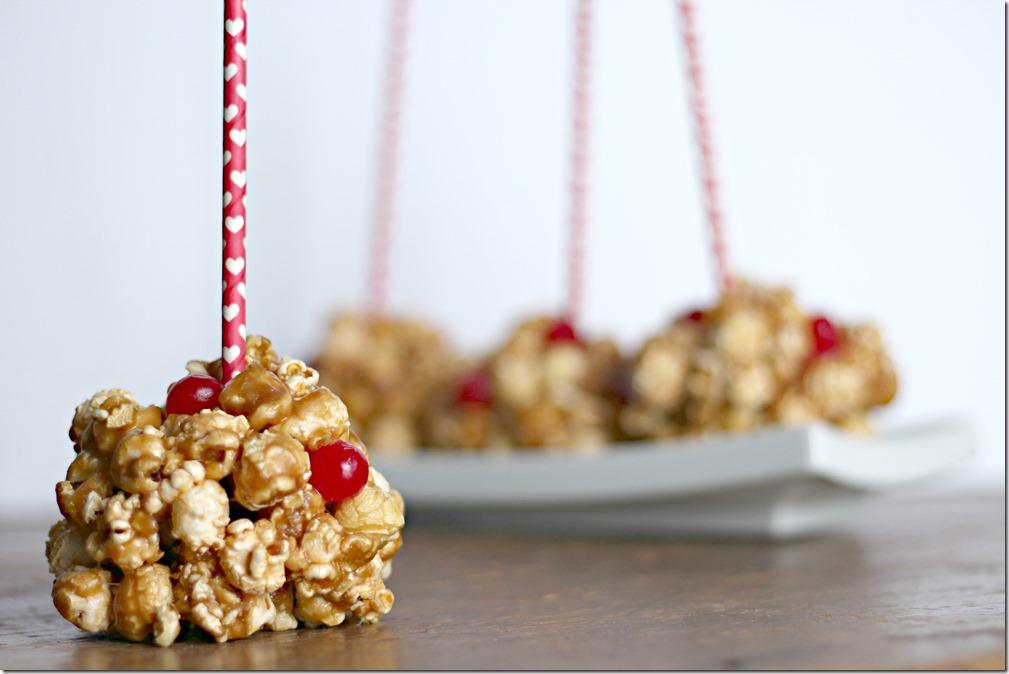 Valentine's Day Maple Bacon Cookie Butter Popcorn Balls