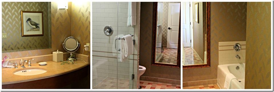 luxurious bathroom in hotel room at casinorama resort