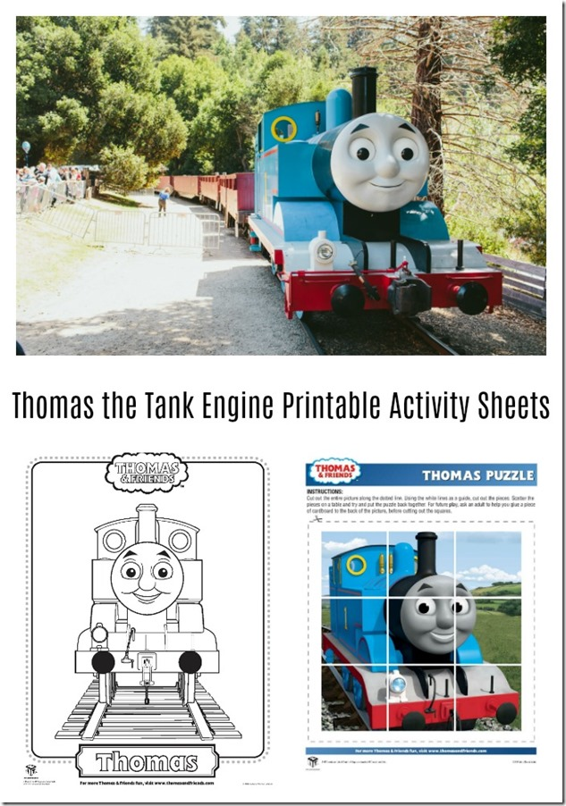 Thomas the Tank Engine Printable Activity Sheets