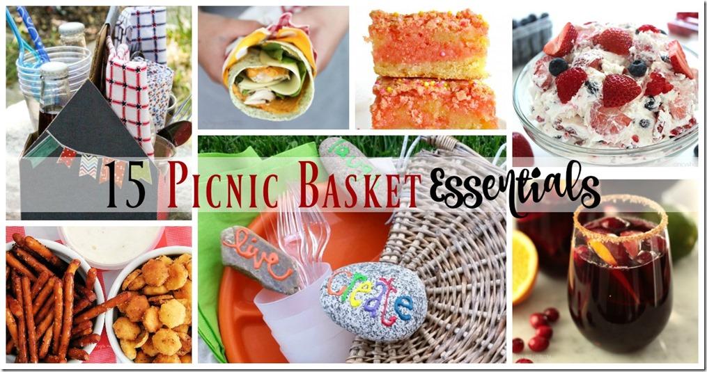 15 Picnic Basket Essentials FB