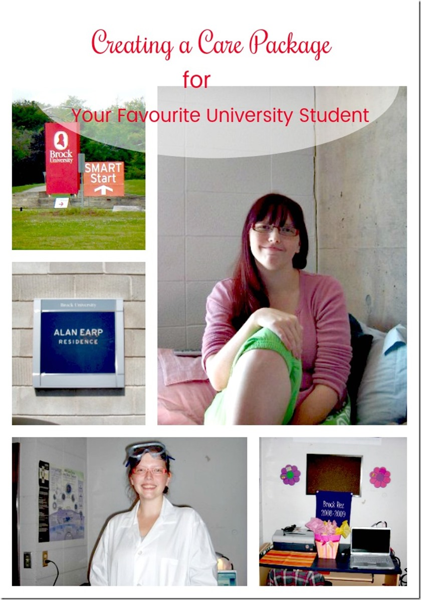 creating a care package for your favorite university student