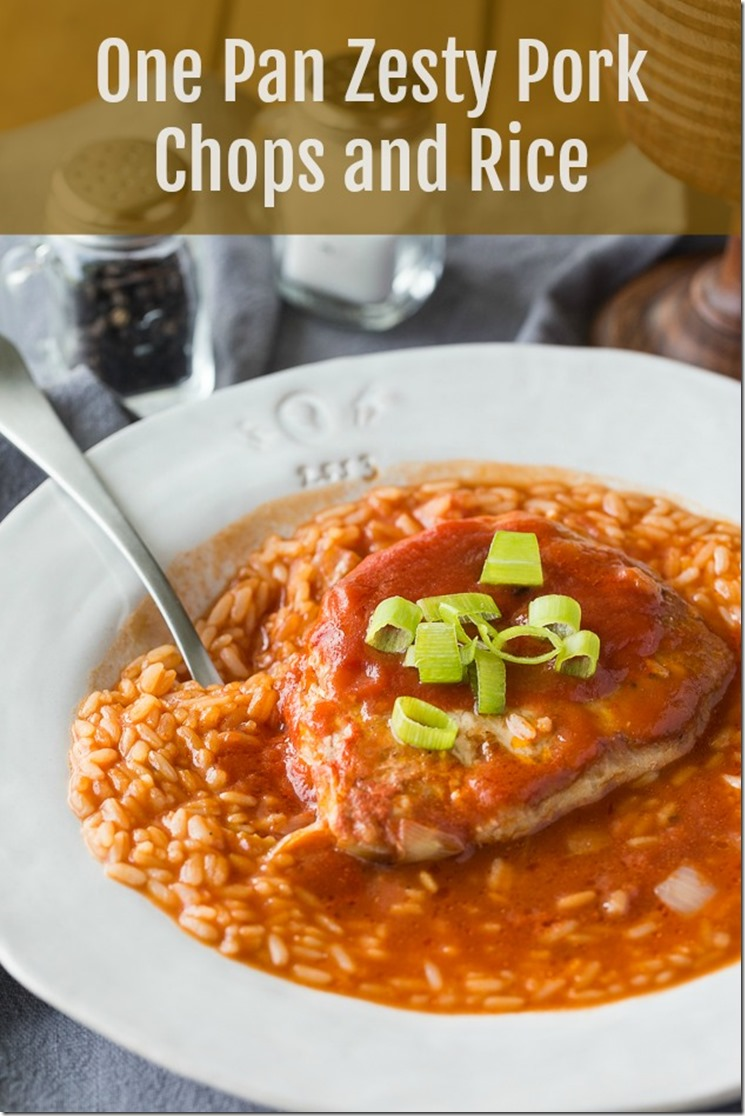 quick and easy one pan zesty pork chops and rice