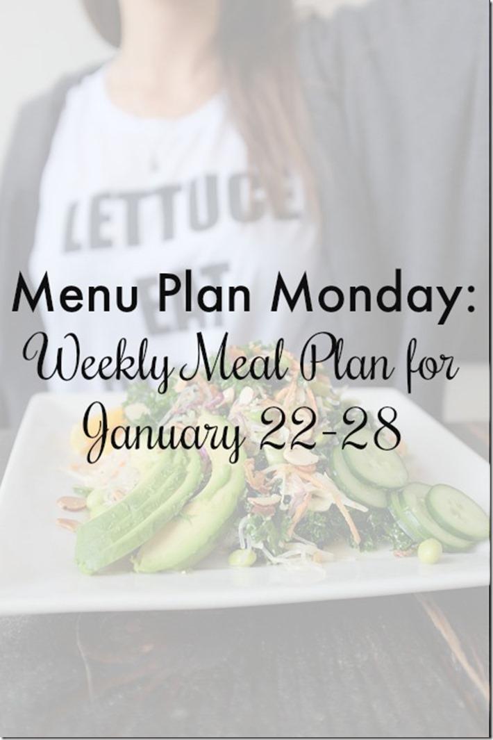 menu plan monday weekly family meal plan