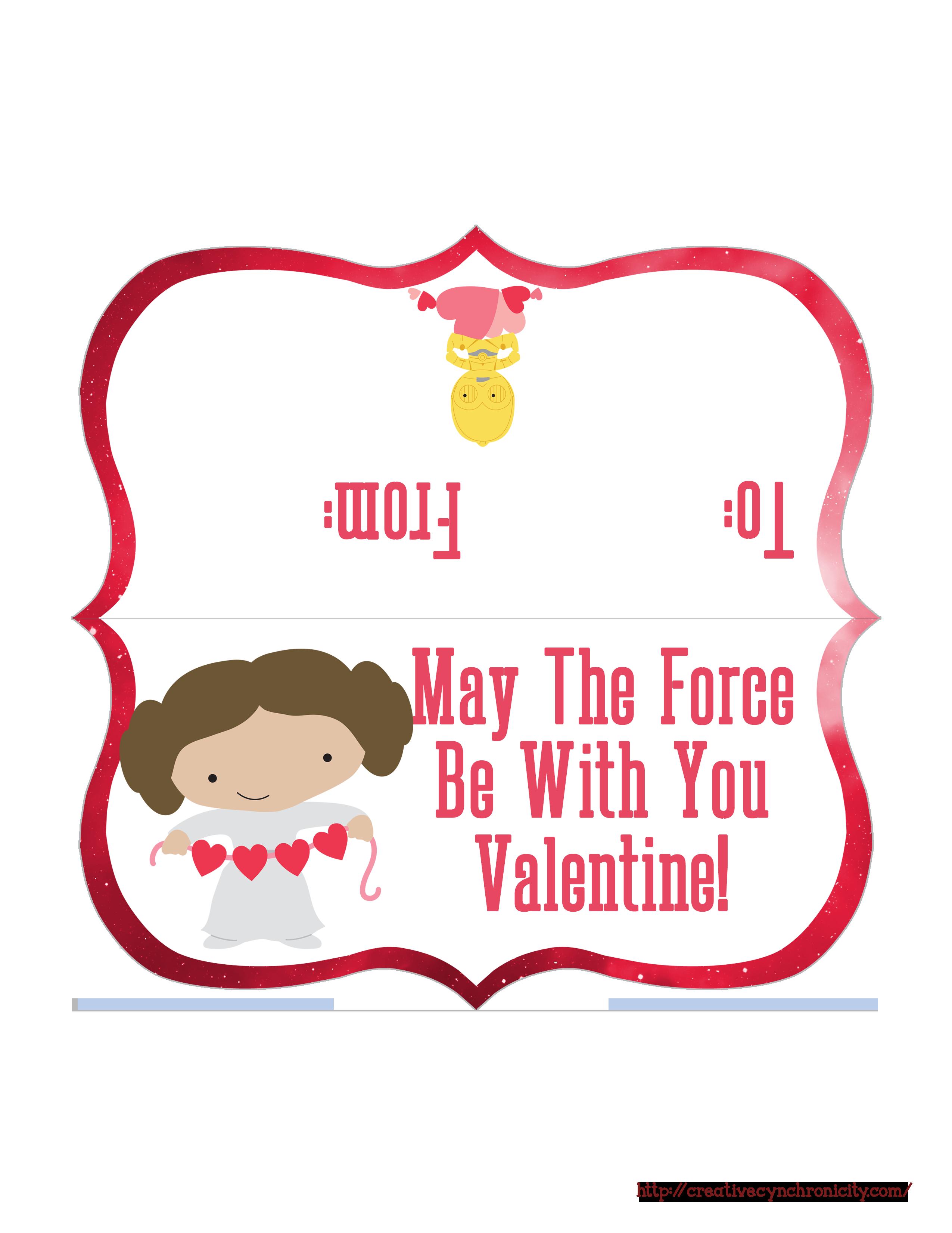 Star Wars Valentine Bag Topper