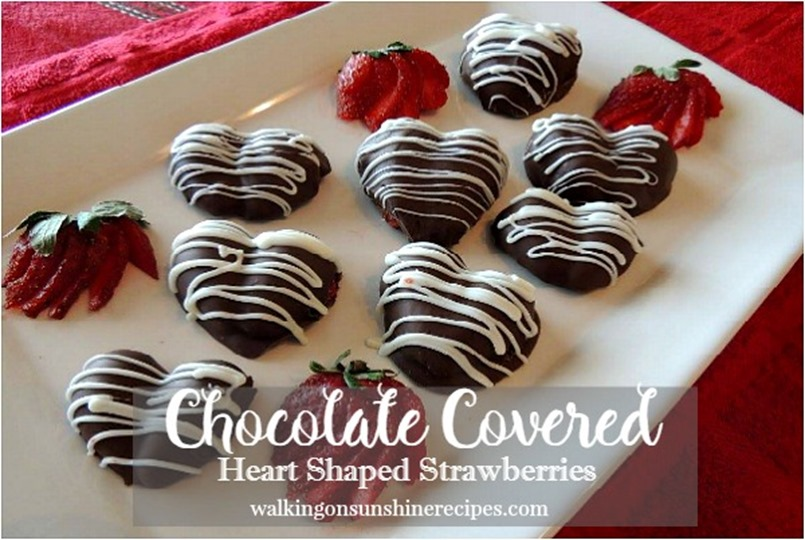 Chocolate Covered Heart Shaped Strawberries promo from Walking on Sunshine