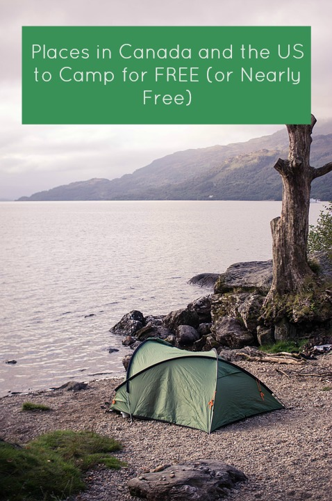places to camp for free or nearly free in canada and the us