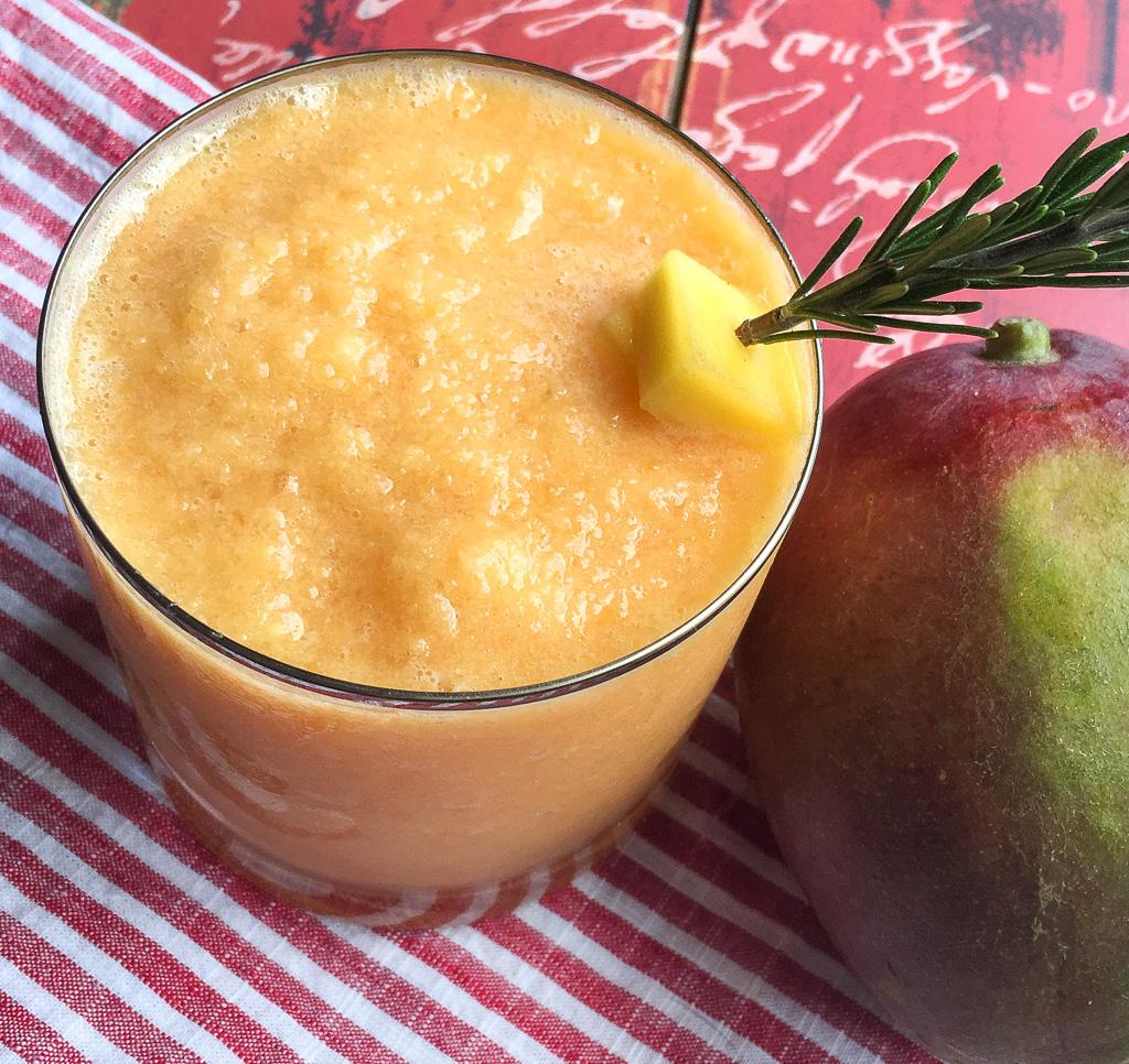 Frozen Mango Slushies and Margaritas