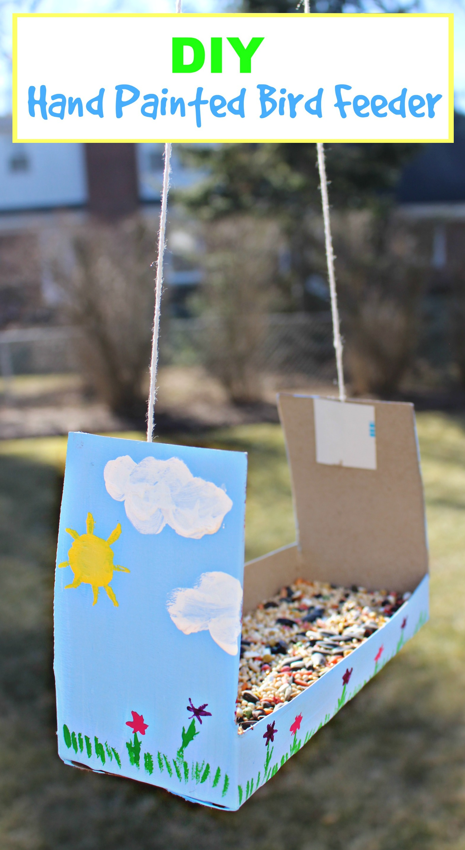 diy craft bird feeder