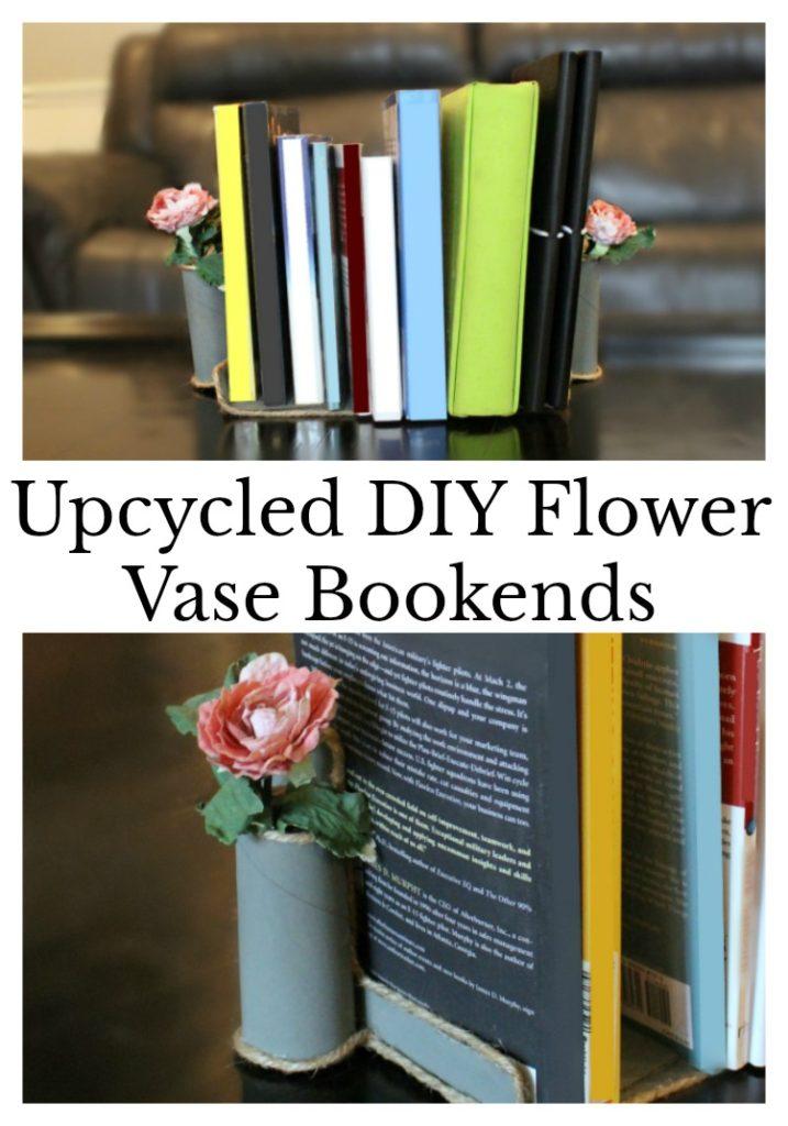 Upcycled DIY Flower Vase Bookends