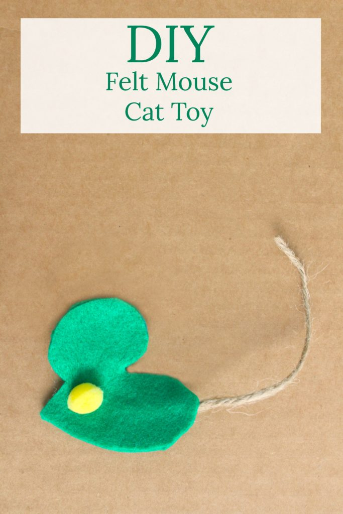 DIY felt mouse and twine cat toy