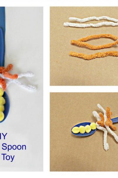 plastic spoon cat toy craft