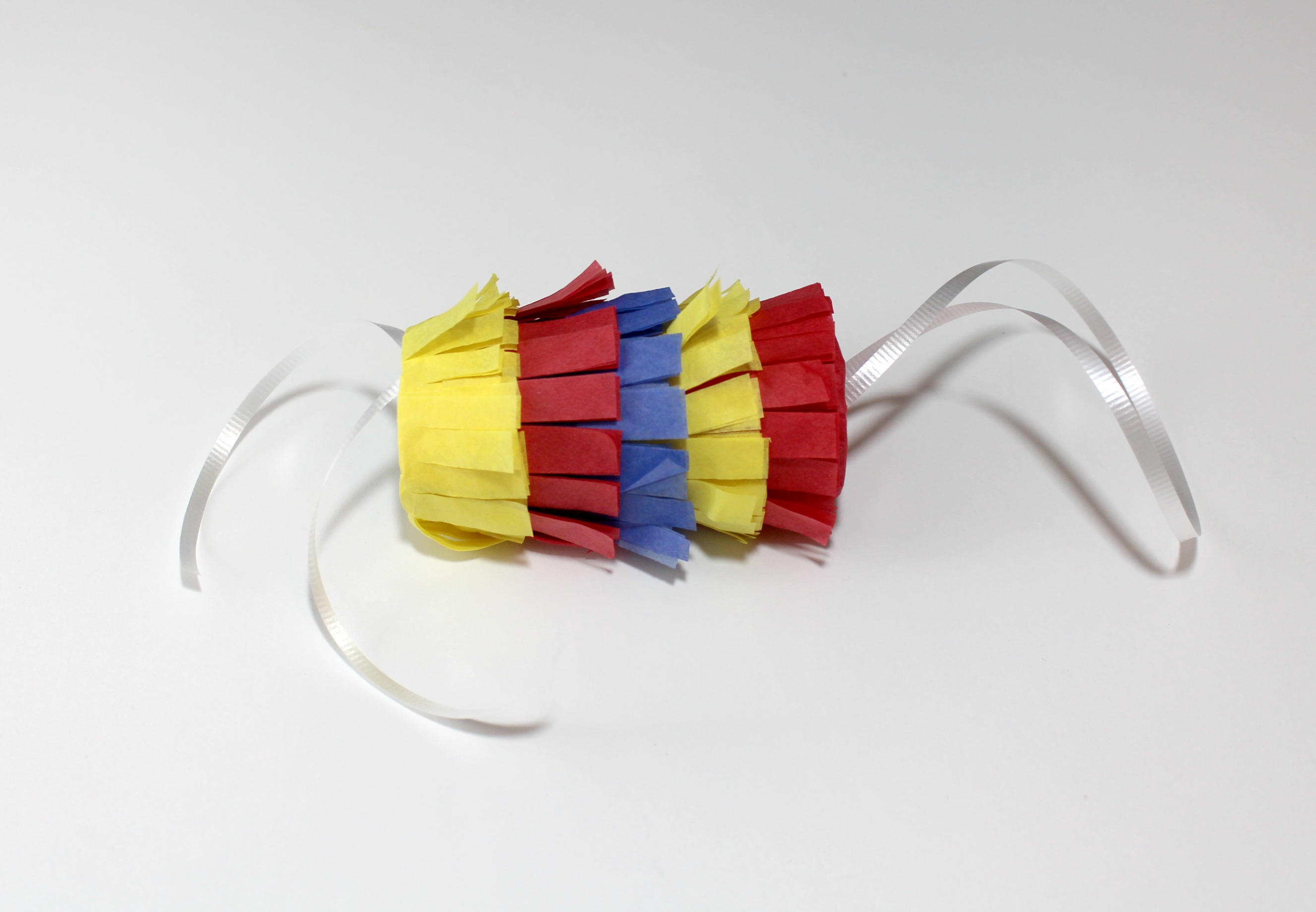 Primary Color Pull String Pinata Step 10
