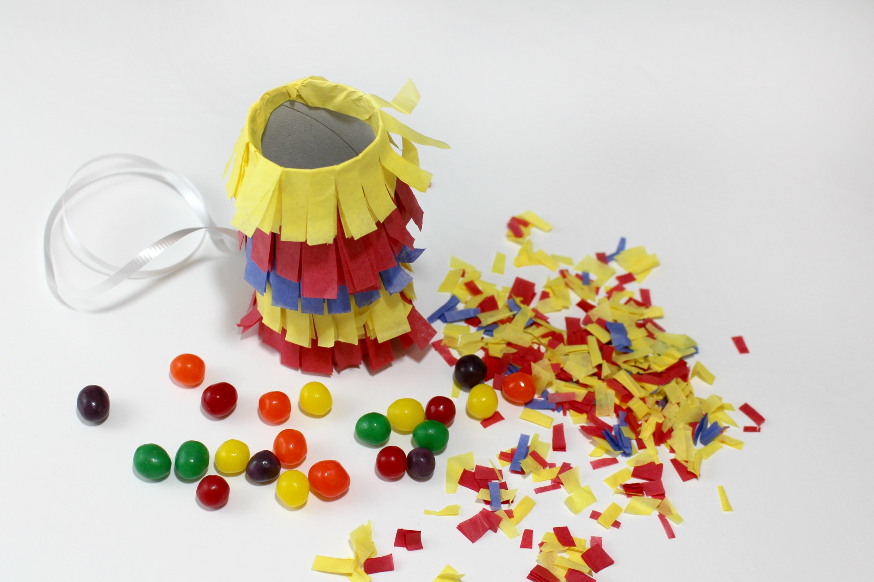Primary Color Pull String Pinata Step 11