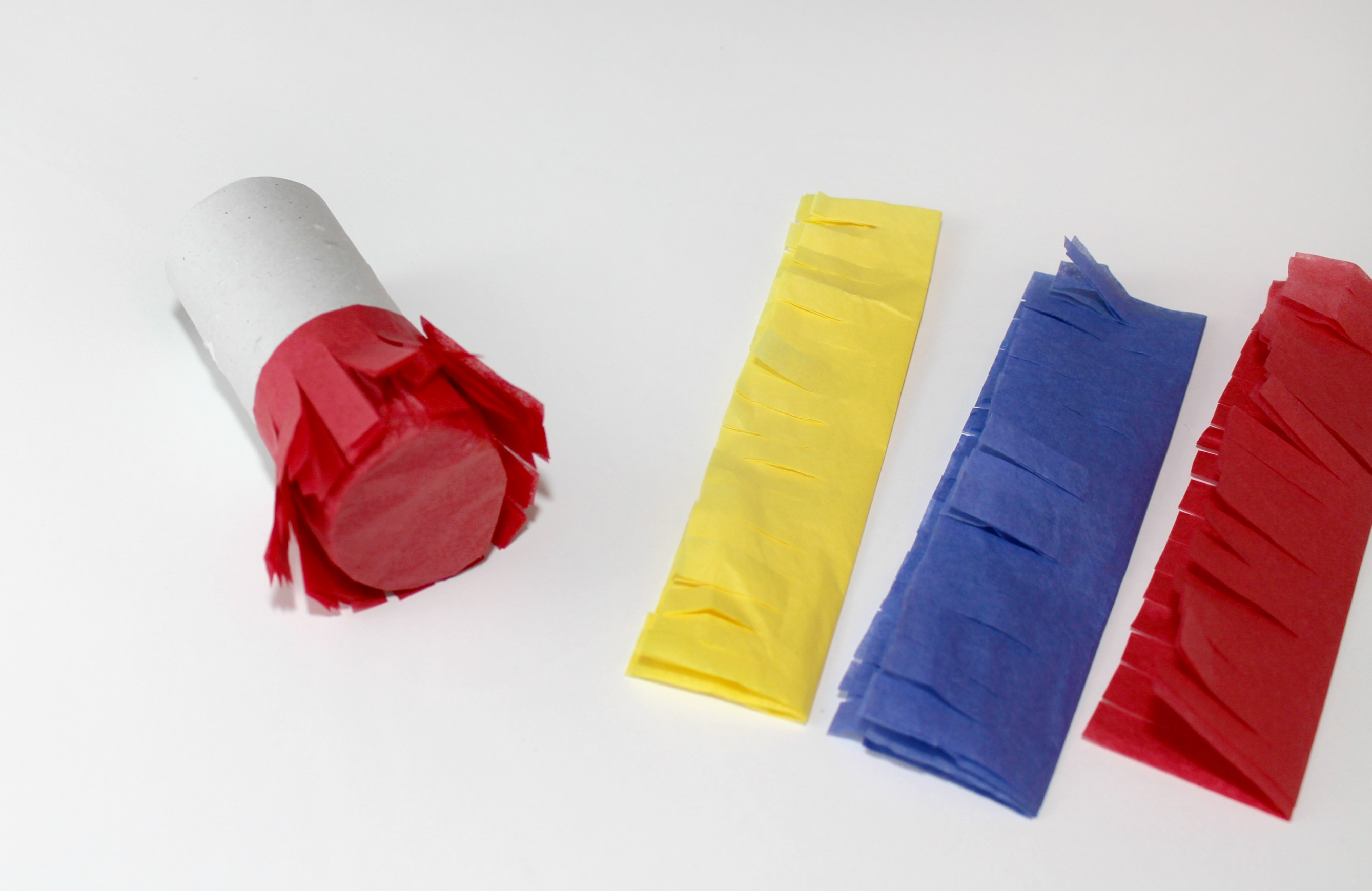Primary Color Pull String Pinata Step 5