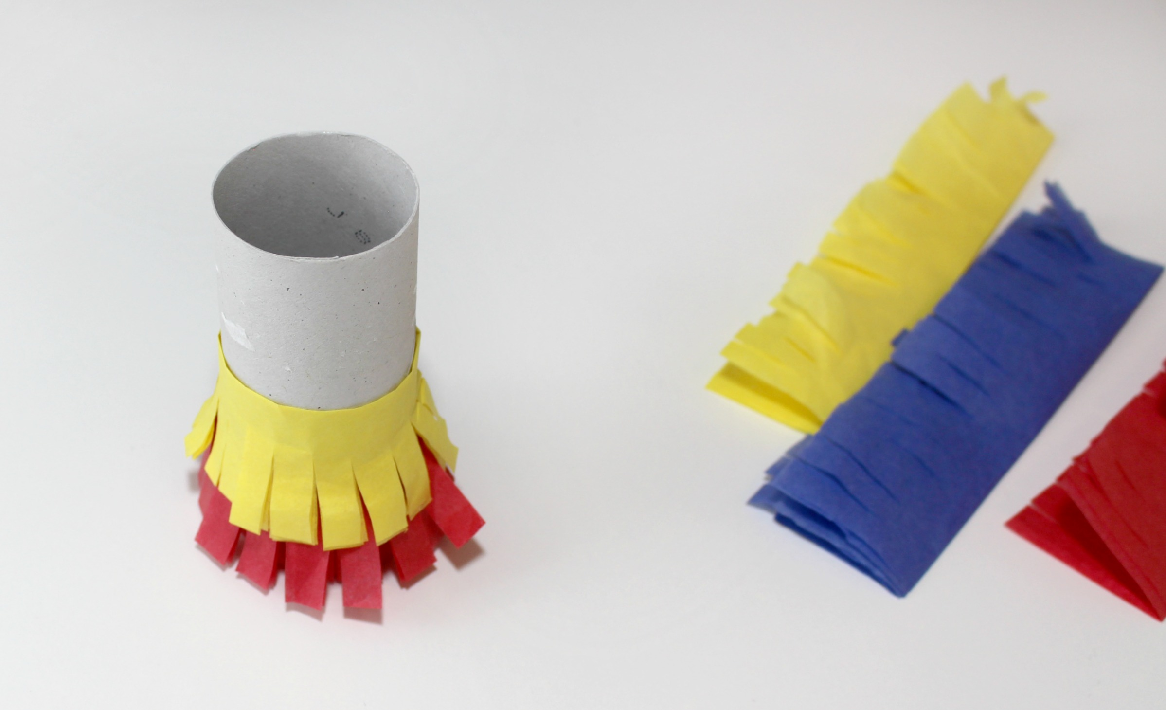 Primary Color Pull String Pinata Step 6