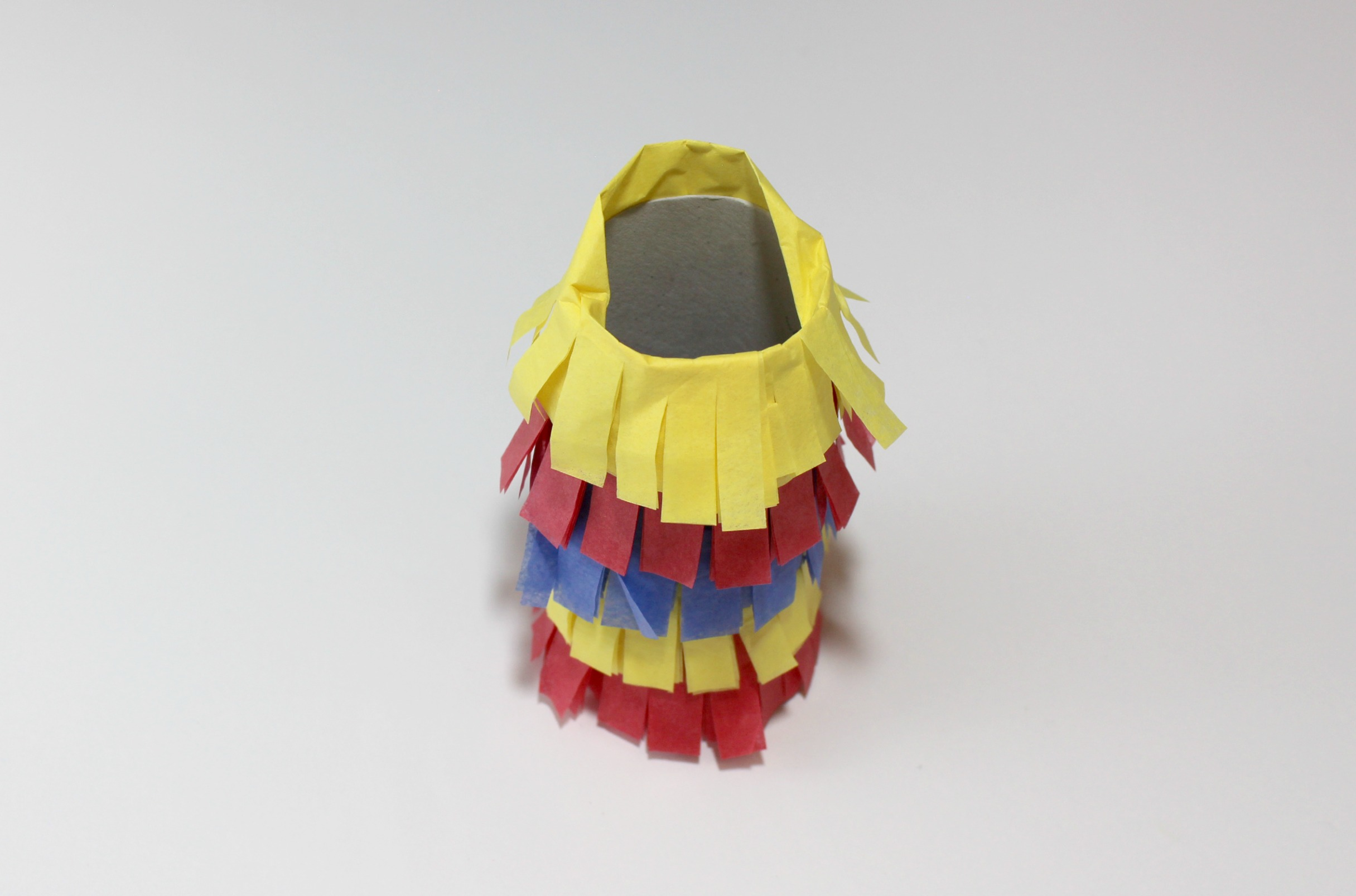 Primary Color Pull String Pinata Step 8